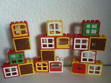 3 x LEGO Duplo Fenster - komplett mit Klappe - versch. Farben - zufällig - TOP!