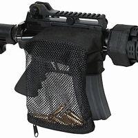 Tactical .223 Zippered AR Brass Catcher Mesh Bag Case Picatinny Weaver Rail