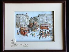 """Diane Elson """"Piccadilly Circus"""" 3D Decoupage 8 1/2"""" x10 1/2"""""""