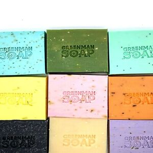 100g GREENMAN Soap SLS/Paraben Free Handcrafted Made in England UK Natural Bar A