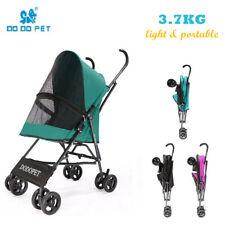 4 Wheel Folding Lightweight Pet Dogs Stroller Travel Carrier Compact Portable