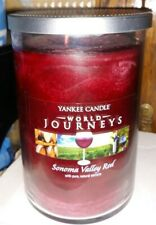 Yankee Candle World Journeys SONOMA VALLEY RED 20 ounce Large Tumbler Candle
