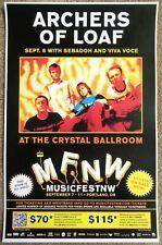Archers Of Loaf 2011 Mfnw Gig Poster Musicfest Nw Portland Oregon Concert