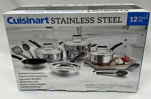 Cuisinart - 12-Piece Cookware Set - Stainless Steel P87-12