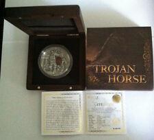 2016 $10 NIUE TROJAN HORSE ANCIENT MYTHS 2 Oz SILVER COIN