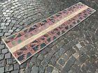 Runner rug, Turkish rug, Vintage rug, Handmade rug, Wool rug, Carpet 2x9ft.