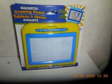 Kids Drawing Board Magnetic Writing Sketch Pads Erasable Yellow/Blue