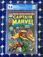 Captain Marvel #27 CGC 9.0 (Marvel 1973) 🔥 Thanos, Drax, Starfox