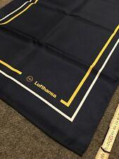 Lufthansa  Crew Stewardess Halstuch Nikkituch blau.Airline Uniforms accessories