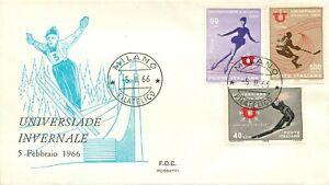 Repubblica, FDC Rossetti - Universiade invernale, 05/02/1966