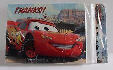 Disney Cars 1 Movie Thank you Cards 8 Hallmark Notes craft Pixar Ships free