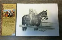 Carolyn Valcourt Rider and Horse Print WESTERN ART PRINT,8.5 X 11