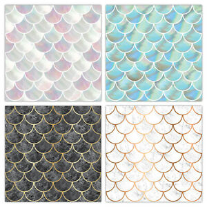 Shell Fish Scale Tile Stickers Transfers - Marble & Pearl Effect - T23S