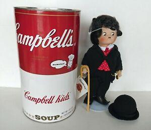 Campbell Kids CHARLIE CHAPLIN The Little Tramp Porcelain Doll + COA 1995