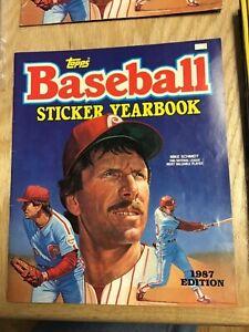 1987 Topps Baseball Sticker Yearbook No Stickers