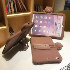 Cute Silicone Rubber Kickstand Protective Back Skin Case For iPad Various Tablet