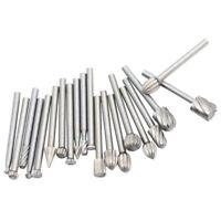 20 pcs Drill Bit Set Steel Rotary Burrs High Speed Wood Carving File Tool Kit