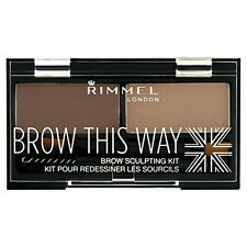 Rimmel BROW THIS WAY Eyebrow Sculpting Kit (Wax Powder & Brush) 002 Medium Brown