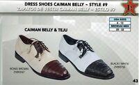 Los Altos Men's Style #9 Genuine Caiman Belly & Teju Lace Up Oxford Dress Shoes