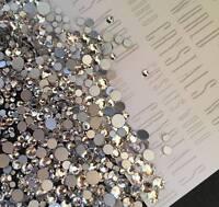 Swarovski crystals CLEAR flat back stones gems charms for nail art x 75 pcs HOT