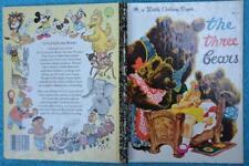 LITTLE GOLDEN BOOK: The Three Bears. 1992 #301-53 Lemon Back GR8 Condition.