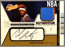 03-04 Fleer Authentix Carmelo Anthony NBA ROOKIE JERSEY AUTO #5/50 2003 2004