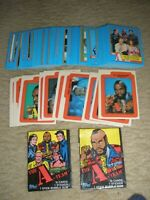 1983 Topps The A-Team Set 66 Cards w/Sticker Inserts and 2 Diff. Wrappers NrMt