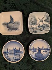4 Royal Copenhagen Mini Plates Denmark Danish