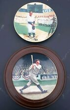 BABE RUTH: THE CALLED SHOT & LOU GEHRIG THE LUCKIEST MAN COLLECTIBLE PLATES