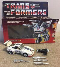 Vintage G1 Transformers Pre-Rub Jazz With Box Weapons Takara 1984 Japan Rare!!!
