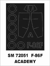 Montex Mini Mask 1:72 F-86 E for Academy Kit Spraying Stencil #SM72051