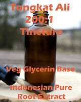 Tongkat Ali Tincture 200:1 50ml - Veg Glycerin base wild harvested Long Jack
