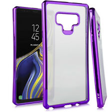 For Samsung Galaxy Note 9 - Purple Chrome Soft Rubber Silicone TPU Case Cover