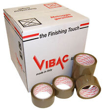 VIBAC 701 BROWN KRAFT SOLVENT BUFF VINYL PACKING TAPE 48MM X 66M CHOOSE QUANTITY