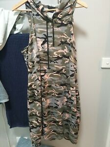 City chic L Camo hooded Dress with front pocket RRP $99.95