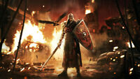 Video Game For Honor Shield  Sword  Warrior Wallpaper Poster 24 x 14 inches