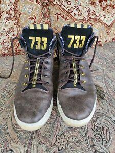Men's Black Cadillac High Top Shoes - Size US 15 UK 14.5 Adidas