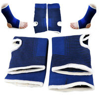2x Elastic Ankle Brace Support Pad Guard Achilles Tendon Sports Strap Foot Pad