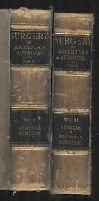Surgery by American Authors, 1896 first edition, 2 volume set, edited by Park