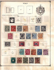 Lot of Italy Stamps on paper from year 1863 to 1918, Rare to find, High CV $$