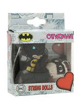 "NEW DC Comics Batman and Cat Woman 2 1/2"" Yarn String Voodoo Doll Figure 2PK Set"