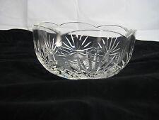 Rogaska Richmond Crystal Cut Vase Round Scalloped Bowl