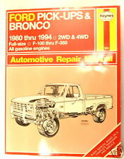 FORD PICK-UPS & BRONCO AUTOMOTIVE Truck  MANUAL 1980-1994 2&4WD - 1994 edition