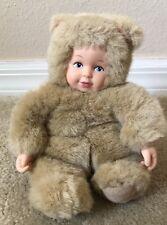 Anne Geddes Baby Bears Cuddly Baby Doll w/ Teddy Bear Costume '97 Vintage