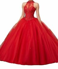 Pink Blue Quinceanera Dress Formal Prom Party Ball Gown Sweet 16 Dress Custom