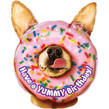 Yummy Birthday Dog Foil Balloon 35cm x 45cm Party Event Decoration