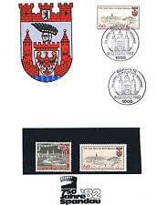Berlin 1982: Spandau 750 Jahre! Gedenkblatt mit der Nr. 159 sowie zwei Nr. 659!