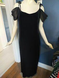 ROMAN SIZE 18 BLACK STRETCH VELVET DRESS