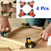 4Pcs 90 Degree Right Angle Clip Picture Frame Corner Clamp Woodworking Hand Tool
