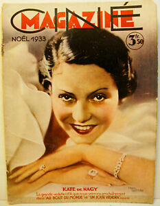 "RARE REVUE CINEMA - 12 / 1933 - N°12 - "" CINEMAGAZINE ""  - 48 PAGES"